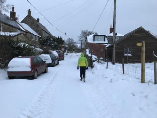 Lamyatt in the snow